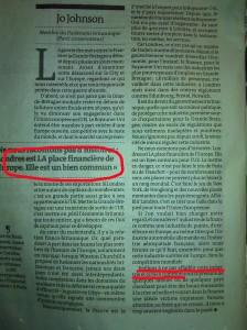johnson jo Tribune Le monde 2011
